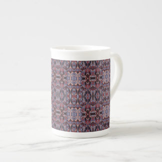 Abstract hand drawn pattern. Purple colors. Tea Cup
