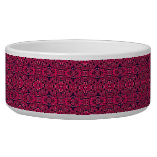 Abstract hand drawn pattern. Purple pink colors. Dog Water Bowls