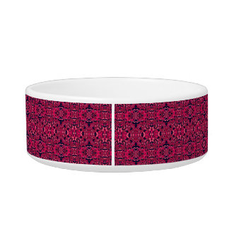 Abstract hand drawn pattern. Purple pink colors. Pet Water Bowls