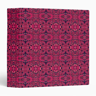Abstract hand drawn pattern. Purple pink colors. Vinyl Binder