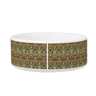 Abstract hand drawn pattern. Retro color. Bowl