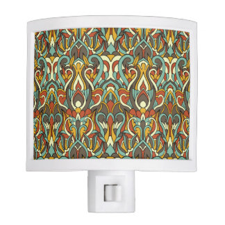 Abstract hand drawn pattern. Retro color. Night Light