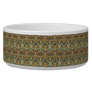 Abstract hand drawn pattern. Retro color. Pet Water Bowls