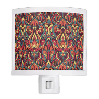 Abstract hand drawn pattern. Retro colors. Night Lites