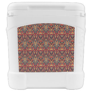 Abstract hand drawn pattern. Retro colors. Rolling Cooler