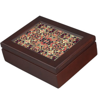 Abstract hand-drawn pattern. Warm color. Keepsake Box