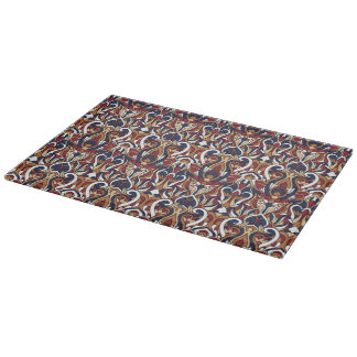 Abstract hand drawn pattern. Warm colors. Boards