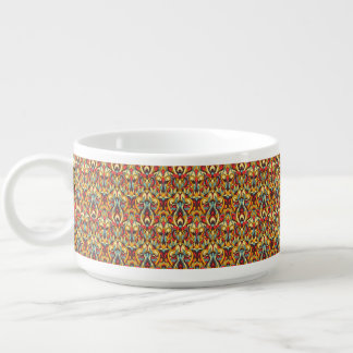 Abstract hand drawn pattern. Warm colors. Bowl