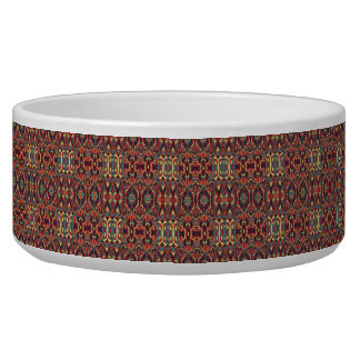 Abstract hand drawn pattern. Warm colors. Pet Water Bowls
