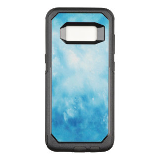Abstract Hand Drawn Watercolor Background: Blue OtterBox Commuter Samsung Galaxy S8 Case