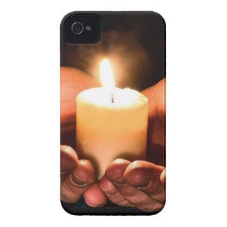 Abstract hands and candle ministry christian iPhone 4 cover