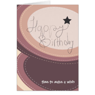 Abstract happy birthday purple greeting card