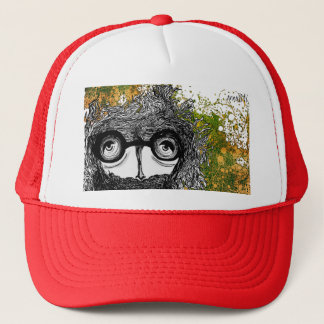 Abstract Hat Red