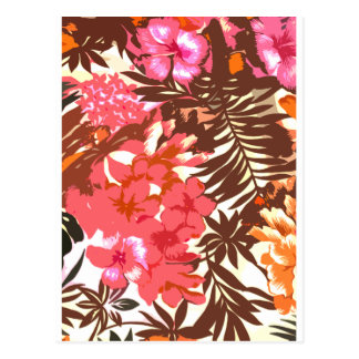 Abstract Hawaiian Pattern Postcard