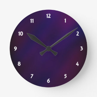 Abstract Haze Round Clock