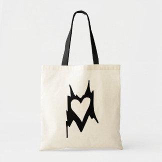 Abstract Heart Budget Tote Bag