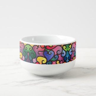 Abstract Heart Design Soup Mug