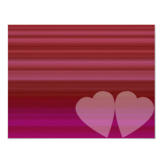 Abstract Heart 4.25x5.5 Paper Invitation Card