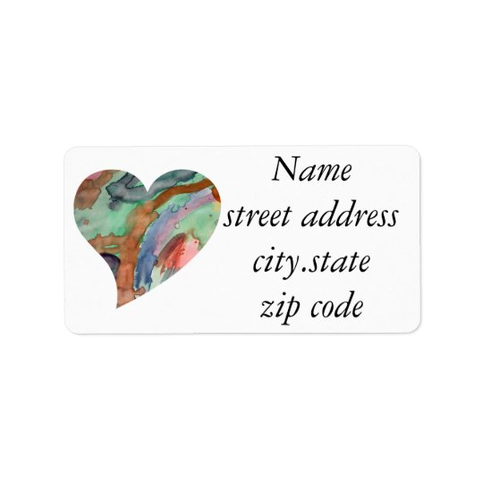 Abstract Heart Label