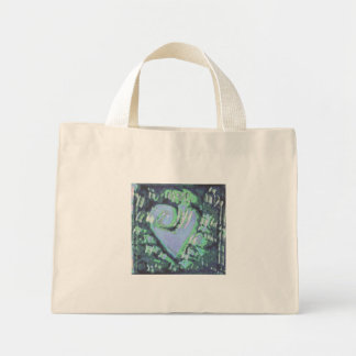 abstract heart mini tote bag