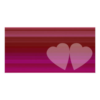 Abstract Heart Personalized Photo Card