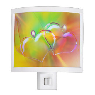 Abstract Hearts Night Light