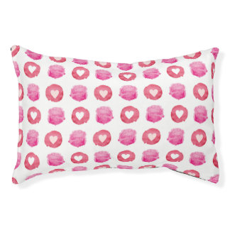 Abstract Hearts Pet Bed