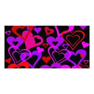 Abstract Hearts Photo Card Template