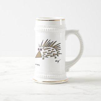 Abstract Hedgehog Stein 18 Oz Beer Stein