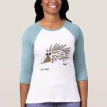 Abstract Hedgehog Womens Raglan T-Shirt