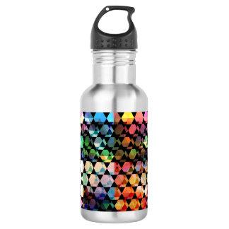 Abstract Hexagon Graphic Design 532 Ml Water Bottle