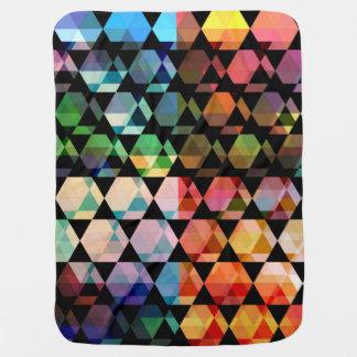 Abstract Hexagon Graphic Design Baby Blanket