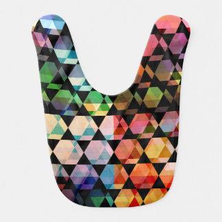 Abstract Hexagon Graphic Design Bib
