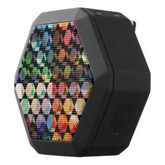 Abstract Hexagon Graphic Design Black Bluetooth Speaker