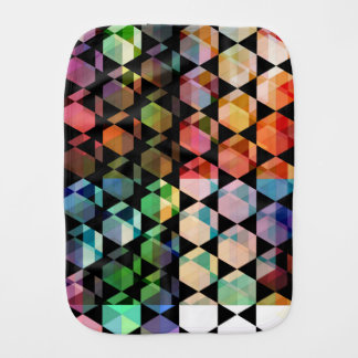 Abstract Hexagon Graphic Design Burp Cloth