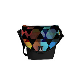 Abstract Hexagon Graphic Design Courier Bags