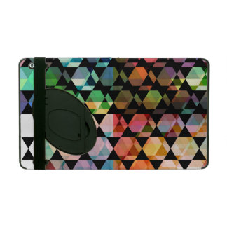 Abstract Hexagon Graphic Design iPad Folio Case