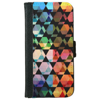 Abstract Hexagon Graphic Design iPhone 6 Wallet Case