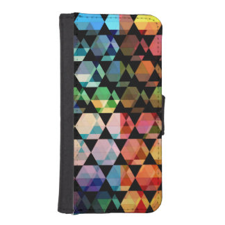 Abstract Hexagon Graphic Design iPhone SE/5/5s Wallet Case