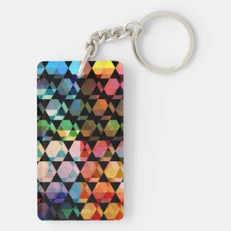 Abstract Hexagon Graphic Design Keychain