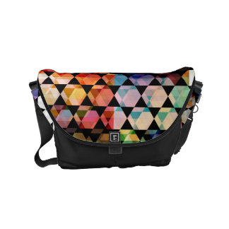Abstract Hexagon Graphic Design Messenger Bag