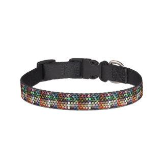 Abstract Hexagon Graphic Design Pet Collar