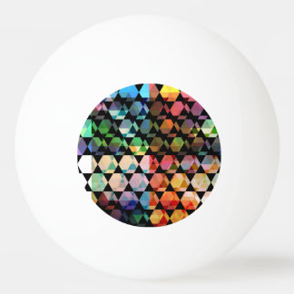 Abstract Hexagon Graphic Design Ping Pong Ball