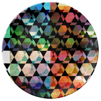 Abstract Hexagon Graphic Design Plate