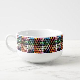 Abstract Hexagon Graphic Design Soup Mug