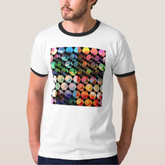 Abstract Hexagon Graphic Design T-Shirt