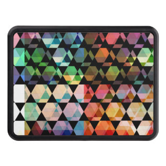 Abstract Hexagon Graphic Design Trailer Hitch Cover