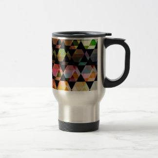 Abstract Hexagon Graphic Design Travel Mug