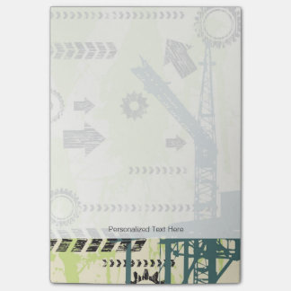 Abstract hi-tech background post-it notes