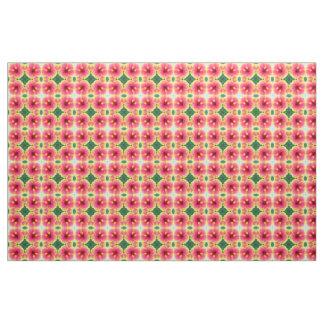 Abstract Hibiscus Kaleidoscope Fabric